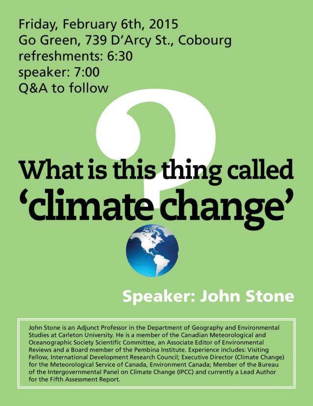 ClimateChangeSpeaker.Cobourg.email
