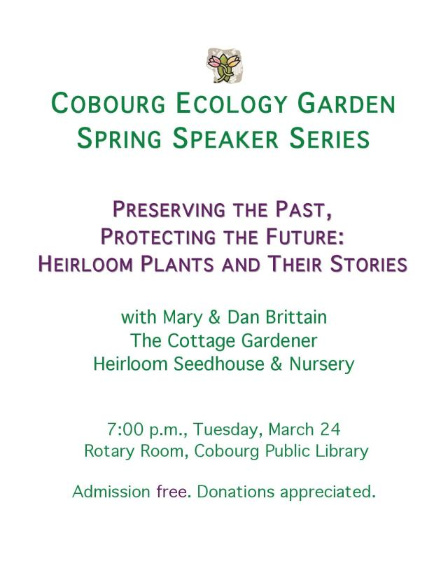 CEG Heirloom Plants Presentation Poster - revised 2015-03-04