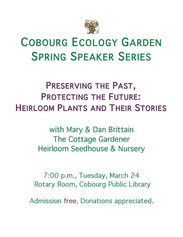 CEG Heirloom Plants Presentation Poster - revised 2015-03-04