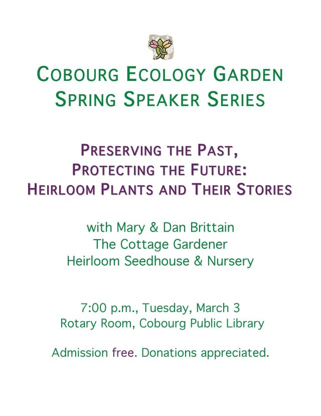 CEG Heirloom Plants Presentation