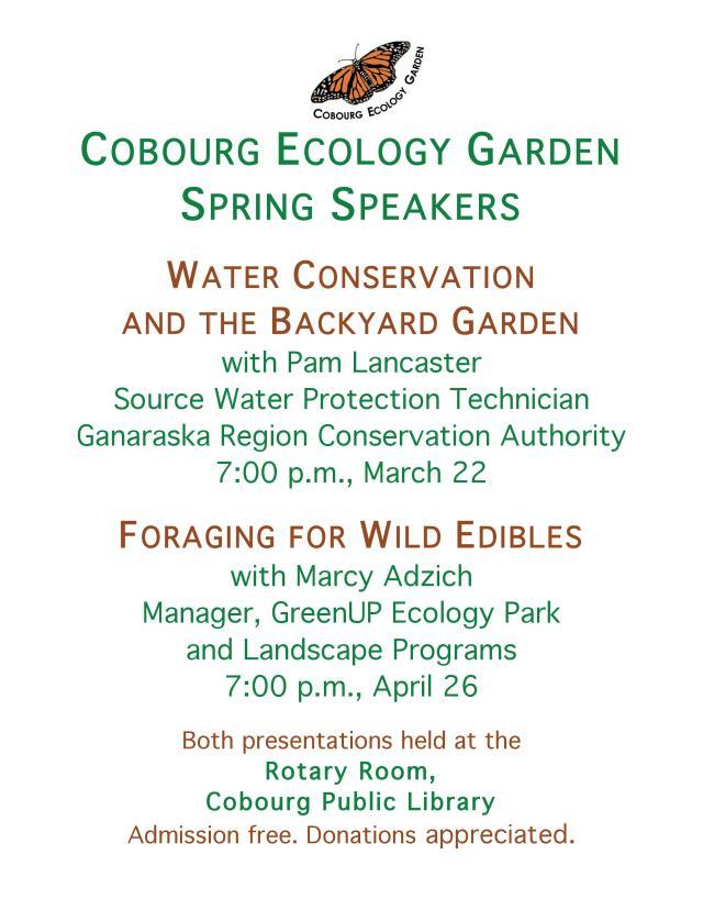 Cobourg Ecology Garden Poster 2016