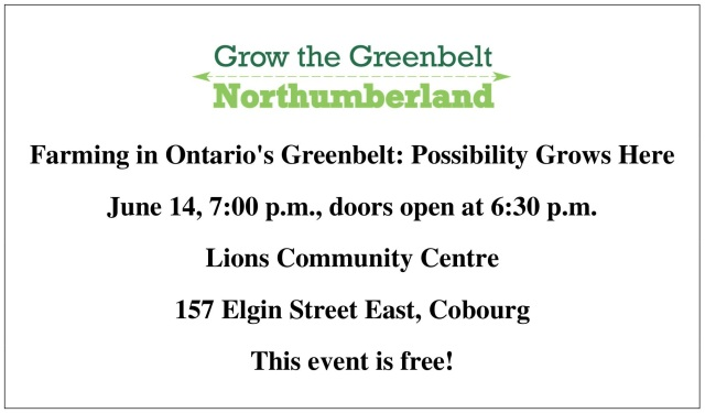 Grow the Greenbelt 2 blog ad