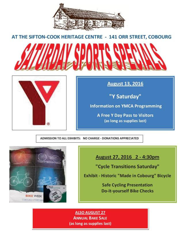 Saturday Sports Special Poster - August 2016